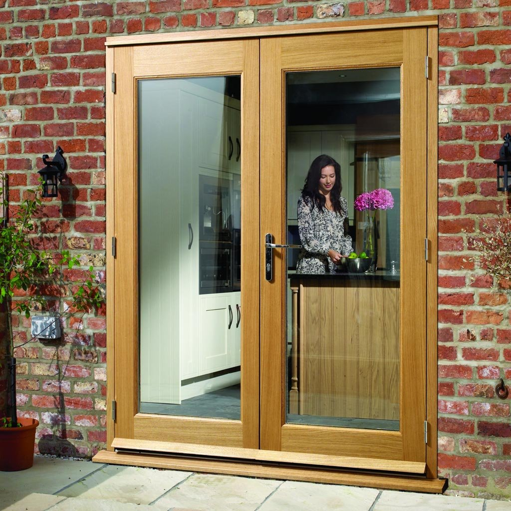 Made to Order Exterior Pattern 20 Style Door Pair - Double Glazing