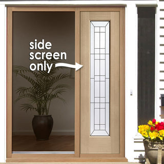 Image: Universal Oak Side Frame - Black Caming Tri-Glazing