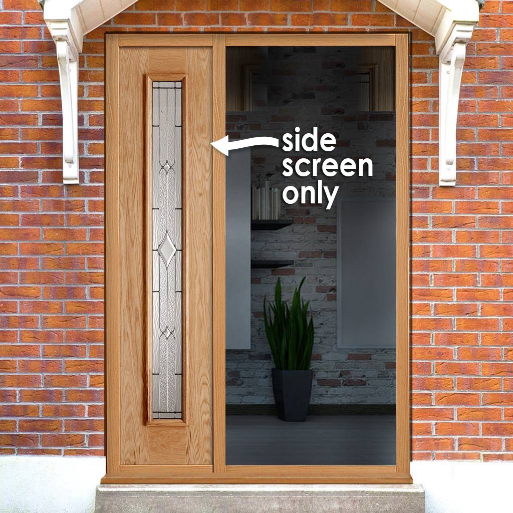 Exterior Universal Oak Side Frame - Leadwork Double Glazing, From LPD Joinery