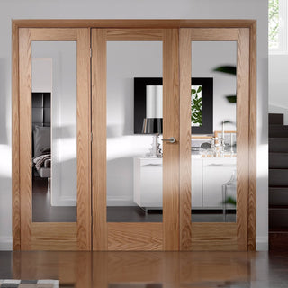 Image: Easi-Frame Oak Door Set - GOSHAP10-COEOP28 - 2005mm Height - 2290mm Wide.