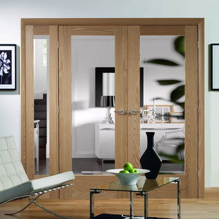 Image: Easi-Frame Oak Door Set - GOSHAP10-COEOP11L - 2005mm Height - 1889mm Wide.
