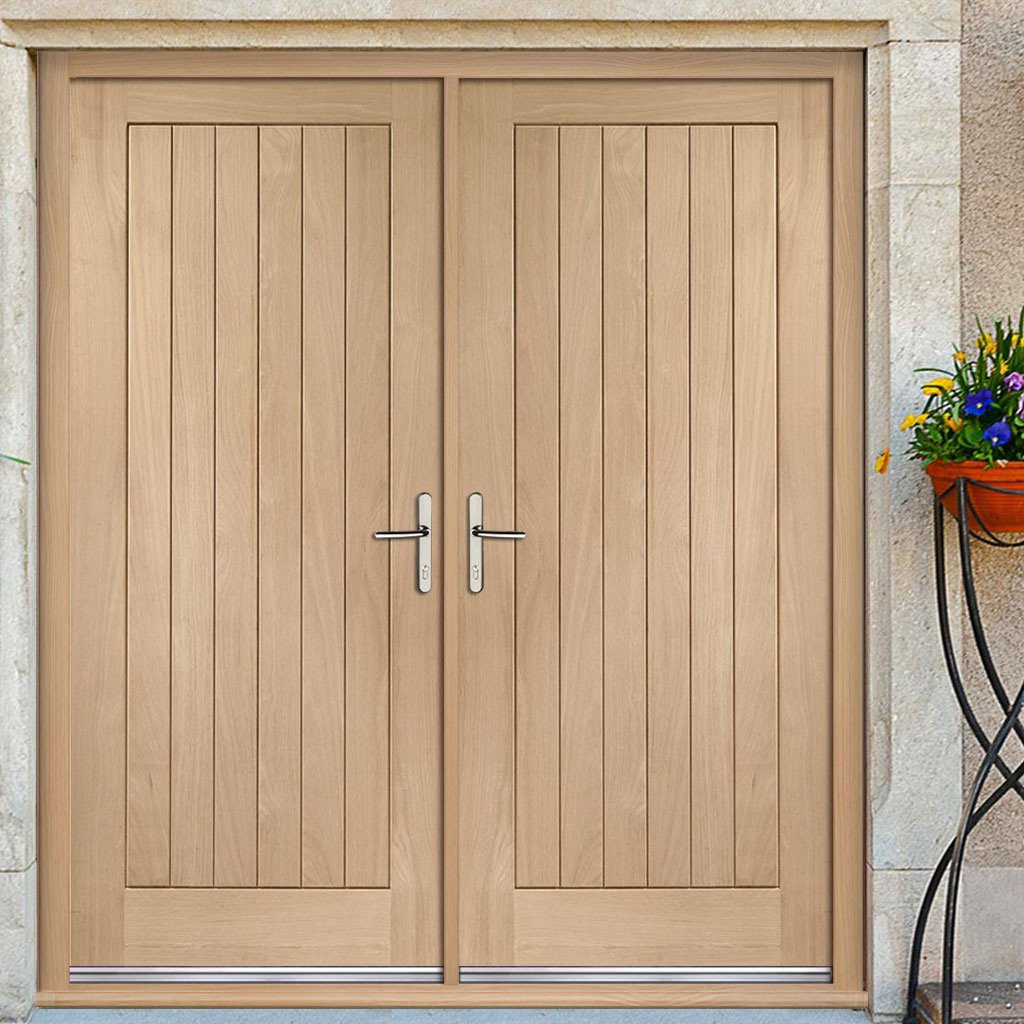 Suffolk Exterior Oak Double Door And Frame Set