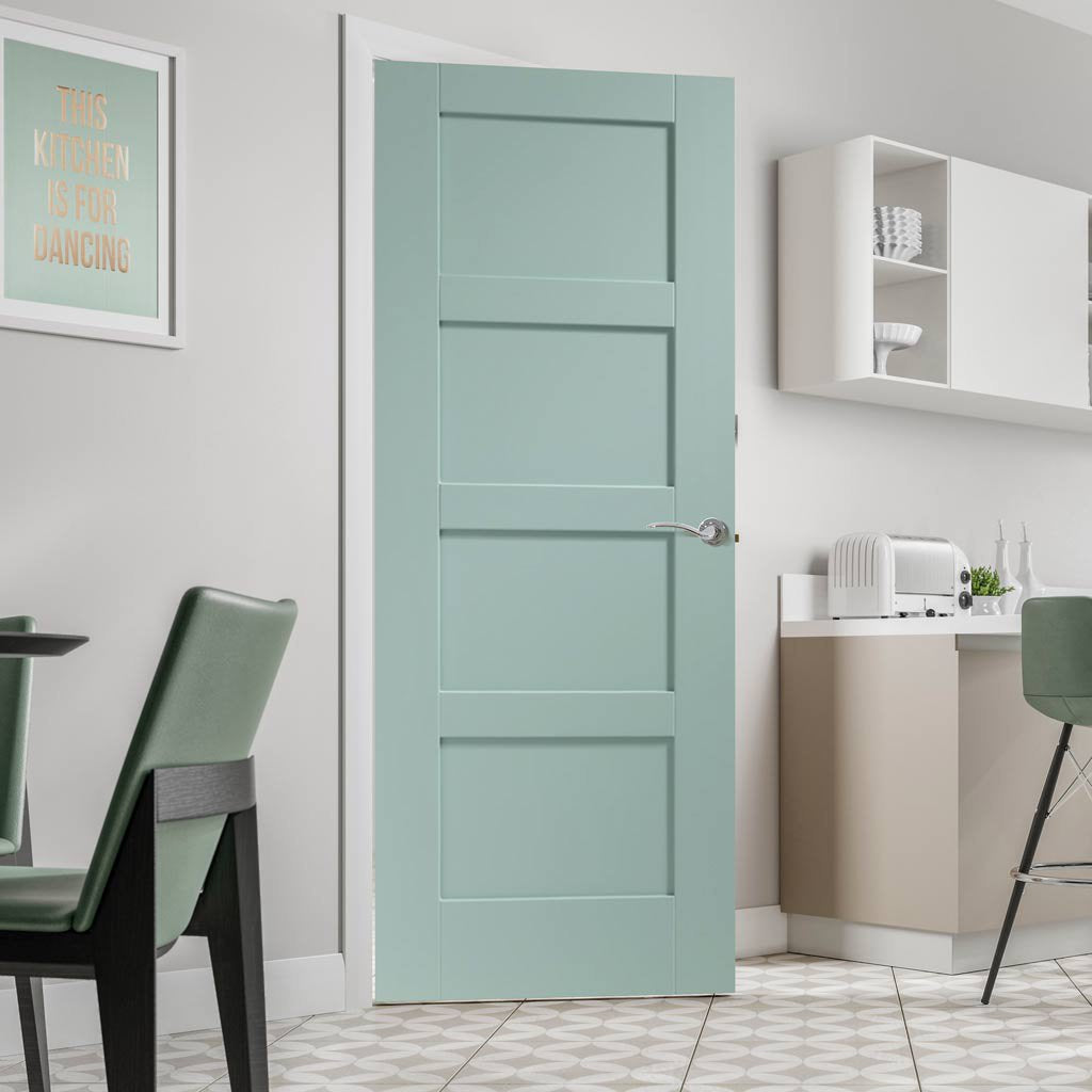 Prefinished Shaker 4 Panel Door Choose Your Colour