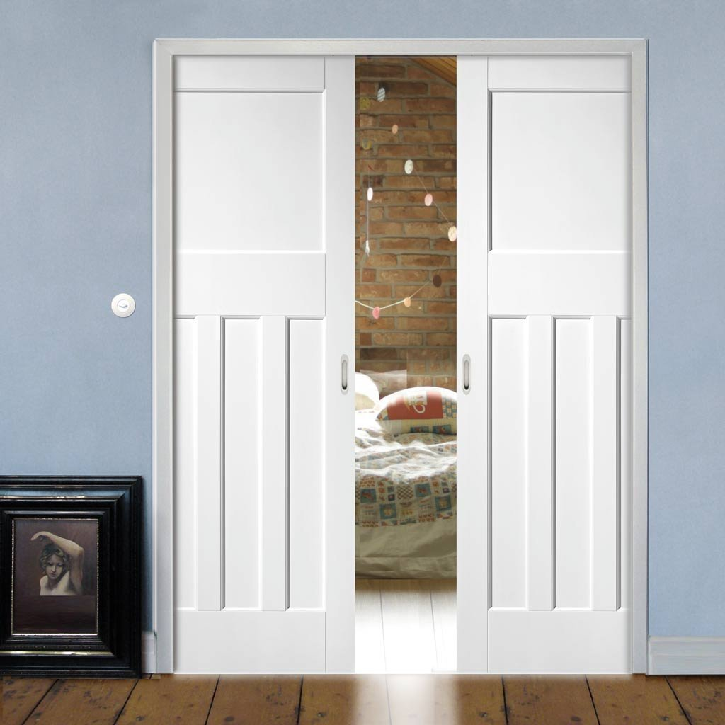 Dx 1930 S Panel Double Evokit Pocket Doors Primed