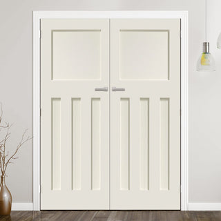 Image: Prefinished DX 1930's Panel Door Pair - Choose Your Colour