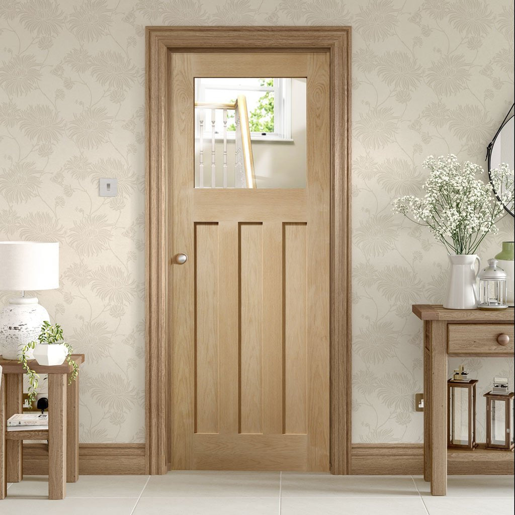 Bespoke DX 1930's Oak Glazed Door - Prefinished