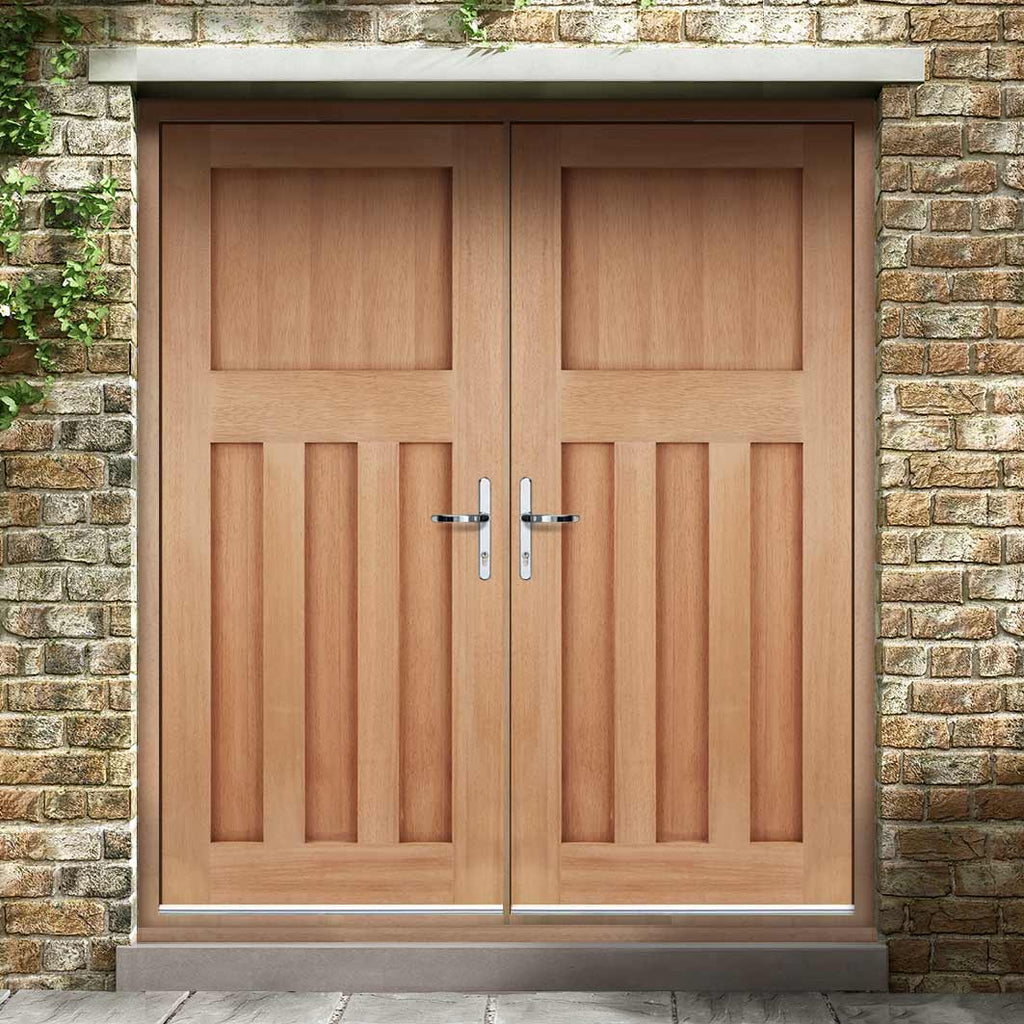 DX30's Style Exterior Hardwood Double Door and Frame Set, From LPD Joinery
