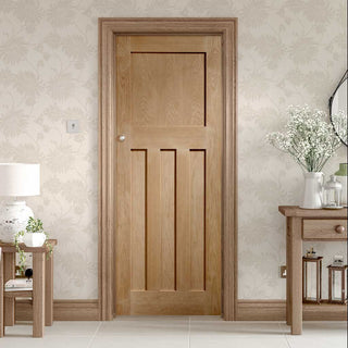 Image: 1930 style period oak panel door