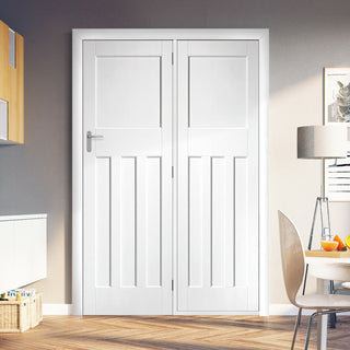 Image: ThruEasi Room Divider - DX30's Door White Primed Door with Single Side - 2018mm High - Multiple Widths