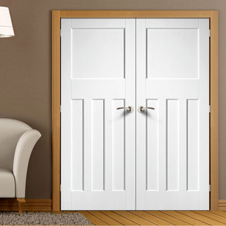 Image: DX30's Style White Primed Panel Door Pair
