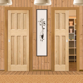 Image: DX 60's Nostalgia Oak Veneer Unico Evo Pocket Doors