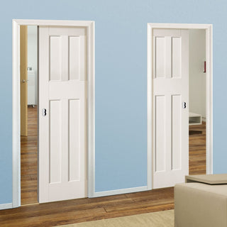 Image: DX60's Style Panel Unico Evo Pocket Doors - White Primed