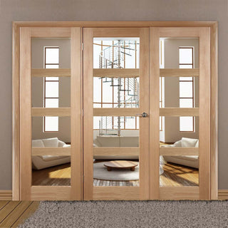 Image: Easi-Frame Oak Door Set - GOSHA4L-COEOP23 - 2005mm Height - 2214mm Wide.