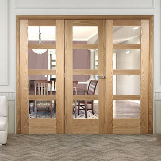 Image: Easi-Frame Oak Door Set - GOSHA4L-COEOP25 - 2005mm Height - 2518mm Wide.