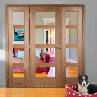 Image: Easi-Frame Oak Door Set - GOSHA4L-COEOP27 - 2005mm Height - 2138mm Wide.