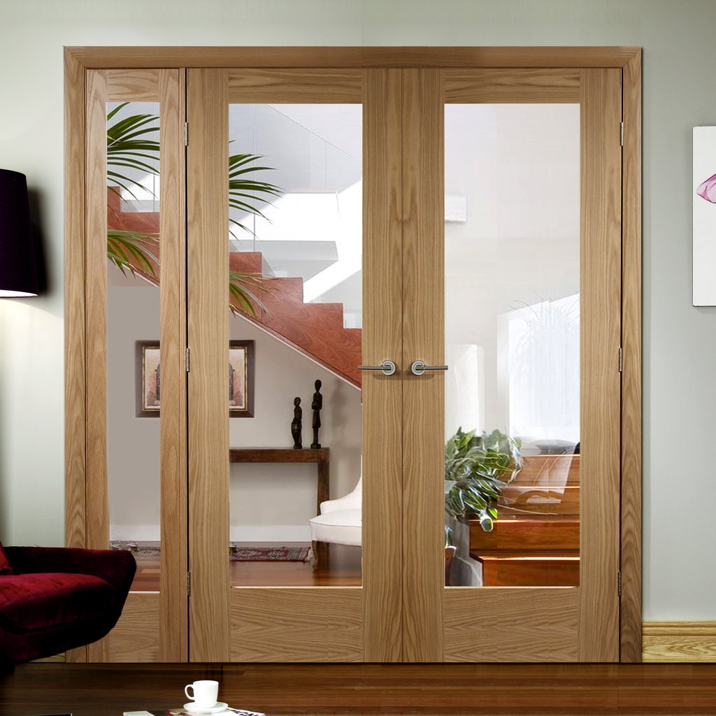 Easi-Frame Oak Door Set - GOSHAP10-COEOP10L - 2005mm Height - 1737mm Wide.