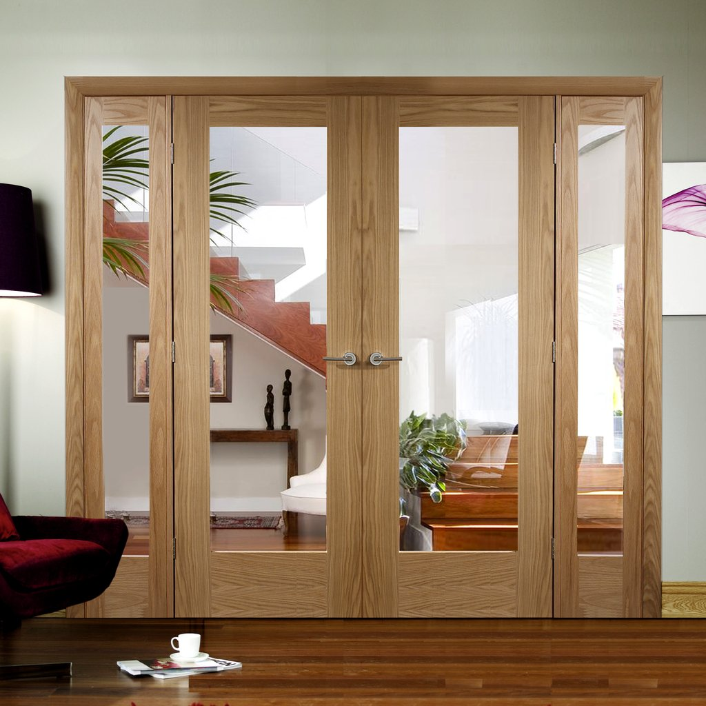 Easi-Frame Oak Door Set - GOSHAP10-COEOP2 - 2005mm Height - 2062mm Wide.