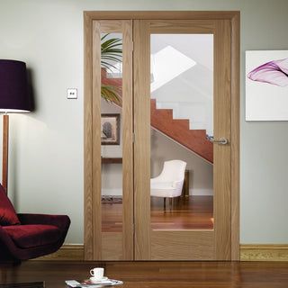 Image: Easi-Frame Oak Door Set - GOSHAP10-COEOP36L - 2005mm Height - 1203mm Wide.