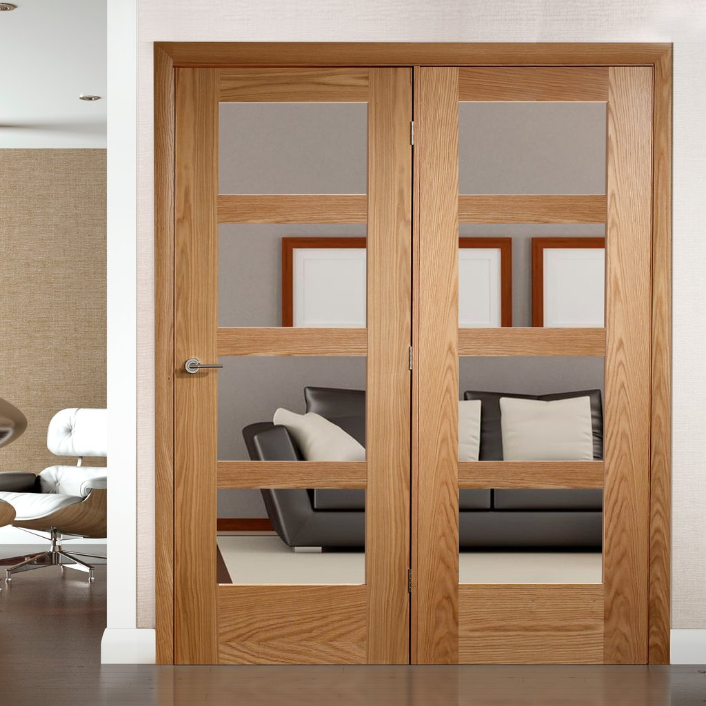 Easi-Frame Oak Door Set - GOSHA4L-COEOP34L - 2005mm Height - 1584mm Wide.