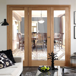 Image: Easi-Frame Oak Door Set - GOSHAP10-COEOP27 - 2005mm Height - 2138mm Wide.