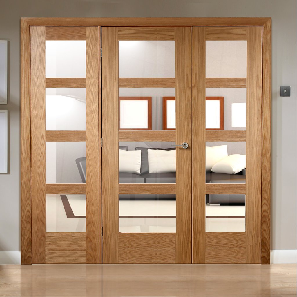 Easi-Frame Oak Door Set - GOSHA4L-COEOP28 - 2005mm Height - 2290mm Wide.