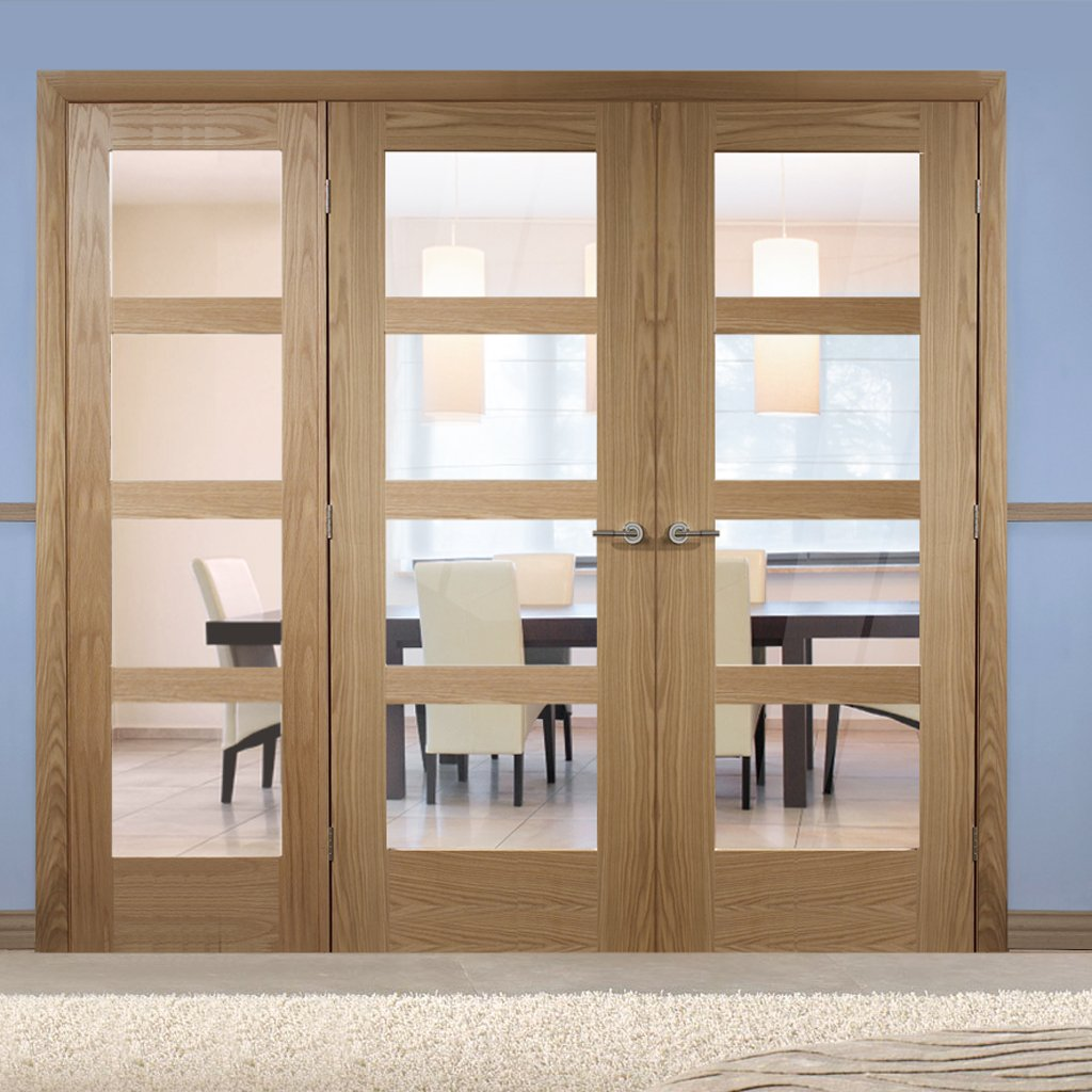Easi-Frame Oak Door Set - GOSHA4L-COEOP14L - 2005mm Height - 2194mm Wide.