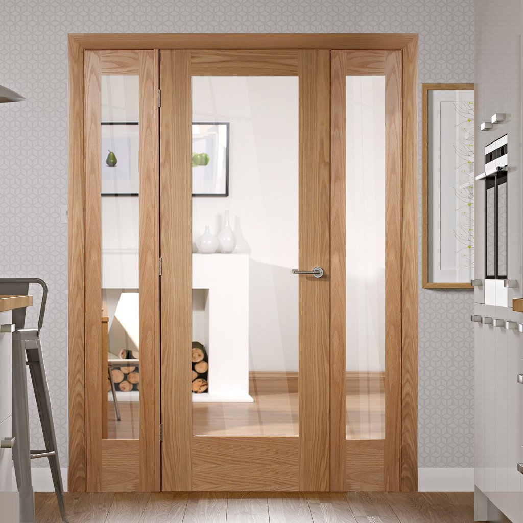 Easi-Frame Oak Door Set - GOSHAP10-COEOP26 - 2005mm Height - 1528mm Wide.