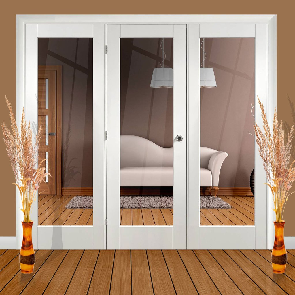 Easi-Frame White Door Set - GWPP10-COEOP25 - 2005mm Height - 2518mm Wide.