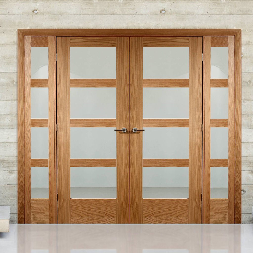 Easi-Frame Oak Door Set - GOSHA4L-COEOP2 - 2005mm Height - 2062mm Wide.