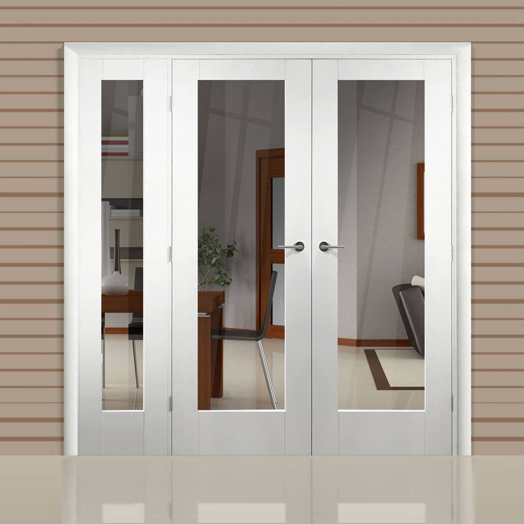 Easi-Frame White Door Set - GWPP10-COEOP9L - 2005mm Height - 1585mm Wide.