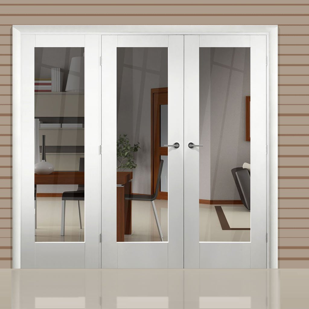 Easi-Frame White Door Set - GWPP10-COEOP20L - 2005mm Height - 2346mm Wide.