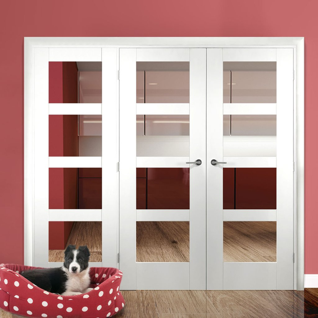 Easi-Frame White Door Set - GWPSHA4L-COEOP15L - 2005mm Height - 1966mm Wide.