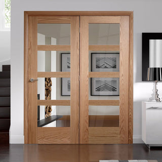 Image: Easi-Frame Oak Door Set - GOSHA4L-COEOP39L - 2005mm Height - 1660mm Wide.