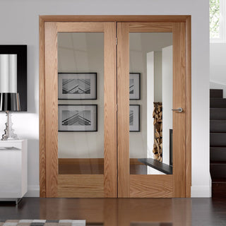 Image: Easi-Frame Oak Door Set - GOSHAP10-COEOP35L - 2005mm Height - 1660mm Wide.