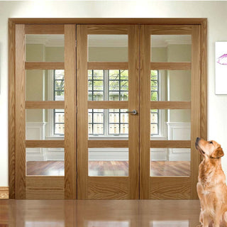 Image: Easi-Frame Oak Door Set - GOSHA4L-COEOP24 - 2005mm Height - 2366mm Wide.
