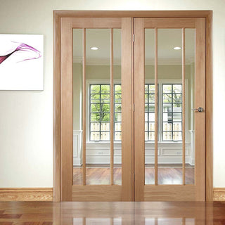 Image: Easi-Frame Oak Door Set - GOWOR-COEOP34L - 2005mm Height - 1584mm Wide.