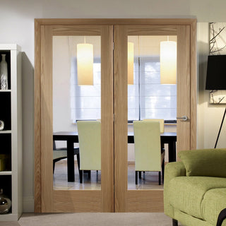 Image: Easi-Frame Oak Door Set - GOSHAP10-COEOP34L - 2005mm Height - 1584mm Wide.