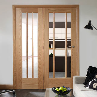Image: Easi-Frame Oak Door Set - GOWOR-COEOP37L - 2005mm Height - 1508mm Wide.
