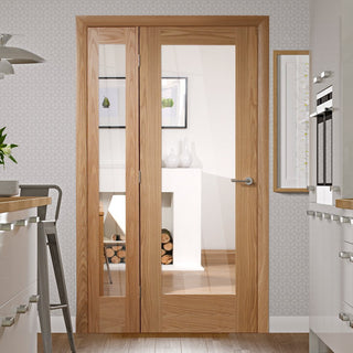 Image: Easi-Frame Oak Door Set - GOSHAP10-COEOP31L - 2005mm Height - 1127mm Wide.