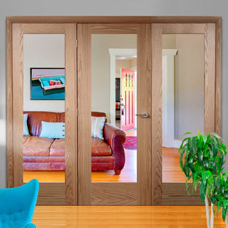 Image: Easi-Frame Oak Door Set - GOSHAP10-COEOP30 - 2005mm Height - 2594mm Wide.