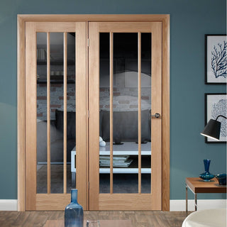 Image: Easi-Frame Oak Door Set - GOWOR-COEOP38L - 2005mm Height - 1584mm Wide.