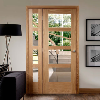 Image: Easi-Frame Oak Door Set - GOSHA4L-COEOP36L - 2005mm Height - 1203mm Wide.