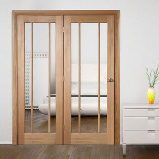 Image: Easi-Frame Oak Door Set - GOWOR-COEOP33L - 2005mm Height - 1508mm Wide.