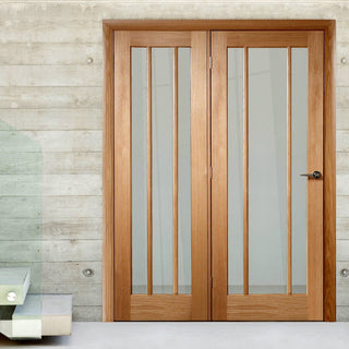 Image: Easi-Frame Oak Door Set - GOWOR-COEOP32L - 2005mm Height - 1432mm Wide.