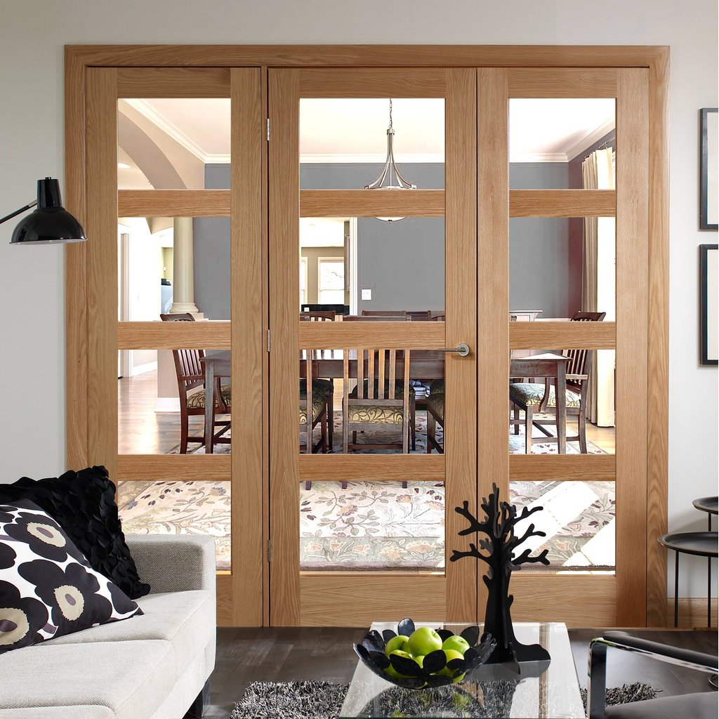 Easi-Frame Oak Door Set - GOSHA4L-COEOP22 - 2005mm Height - 2062mm Wide.