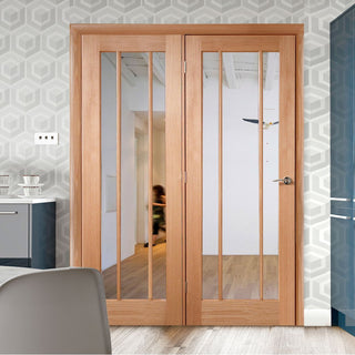 Image: Easi-Frame Oak Door Set - GOWOR-COEOP39L - 2005mm Height - 1660mm Wide.