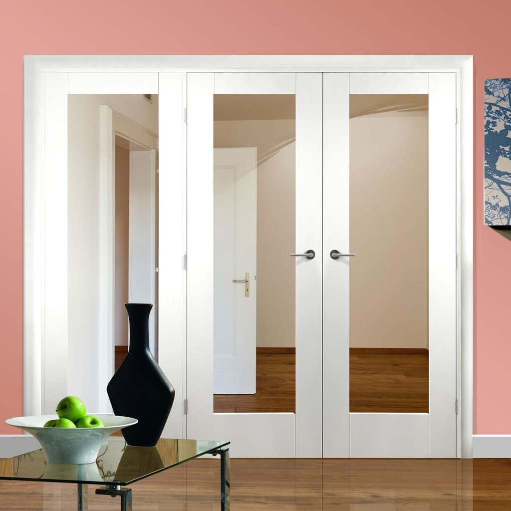 Easi-Frame White Door Set - GWPP10-COEOP18L - 2005mm Height - 2042mm Wide.