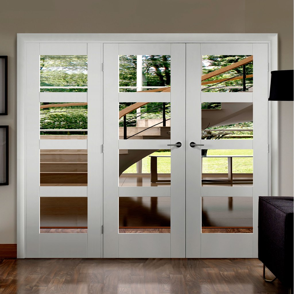 Easi-Frame White Door Set - GWPSHA4L-COEOP20L - 2005mm Height - 2346mm Wide.