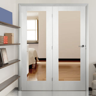Image: Easi-Frame White Door Set - GWPP10-COEOP39L - 2005mm Height - 1660mm Wide.