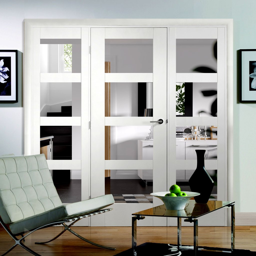 Easi-Frame White Door Set - GWPSHA4L-COEOP23 - 2005mm Height - 2214mm Wide.